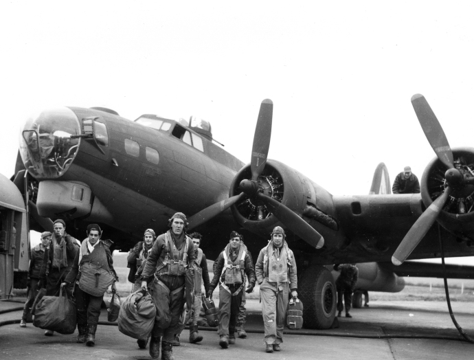 381st bg b17 return from frankfrt feb 5 44734
