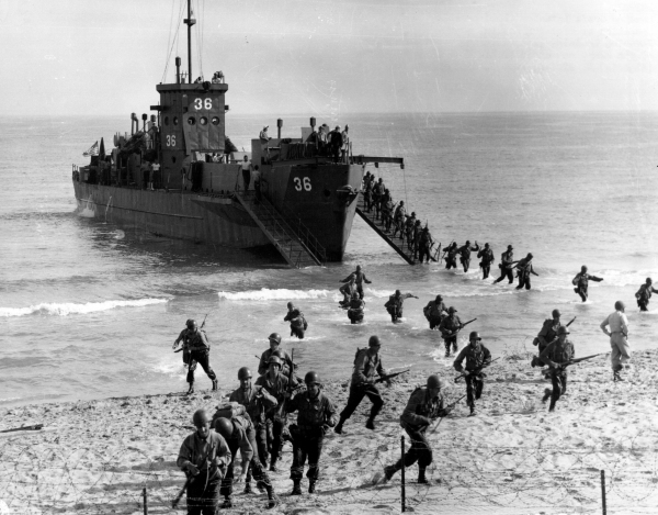 The Big Red One hits the beach during Operation Torch, the invasion of North Africa.