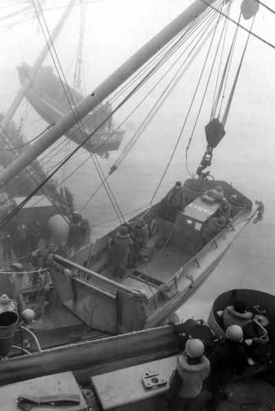 Attu Amphib Invasion Lowering LCVP into Water May 43 6 4x6