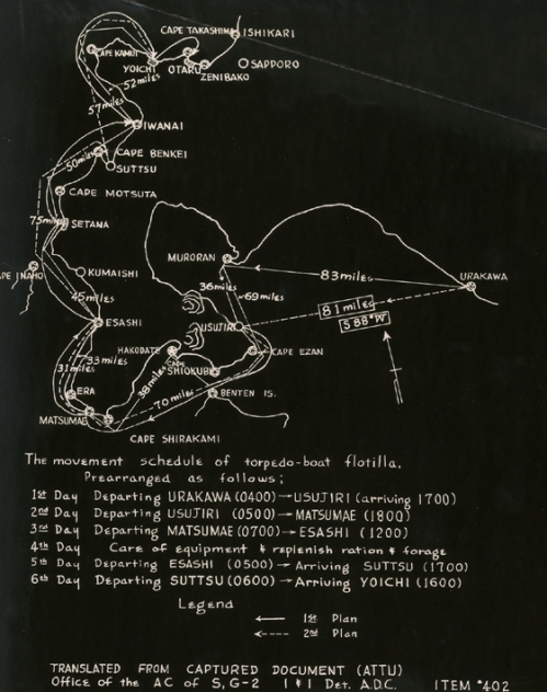 Captured and translated map found on Attu