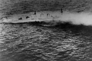 HMS Exeter's last moments off Java.