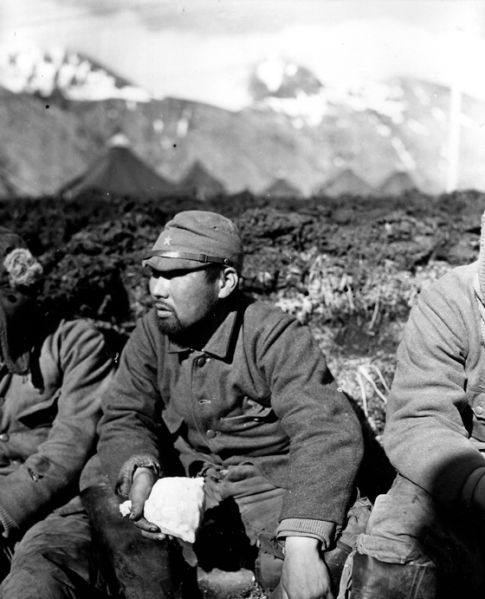 One of the 28 Japanese prisoners captured on Attu