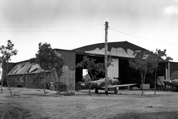 An Airacobra at Townsville, Australia, fall 1942.