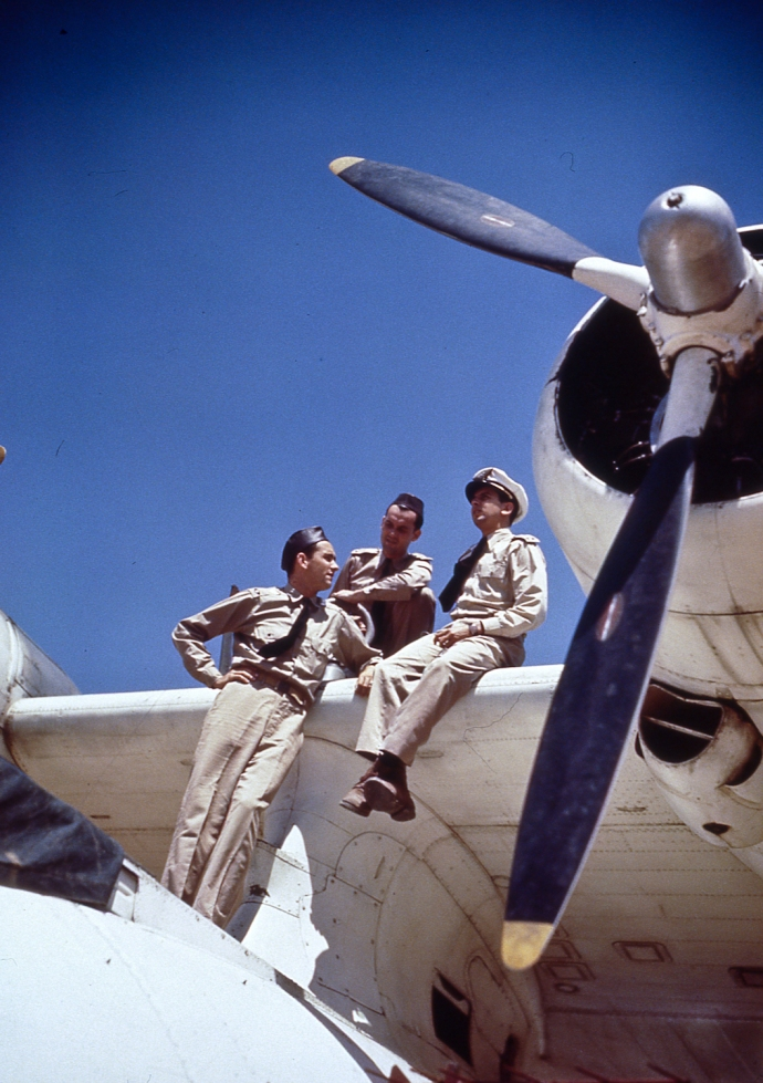 12-30 Brazilian PBY and Crew in Color