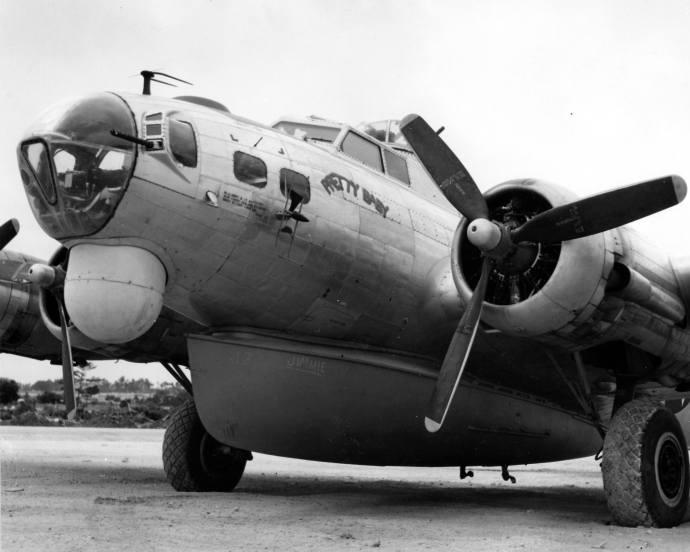A 5th Rescue Group B-17H at Ie Shima, July 27, 1945
