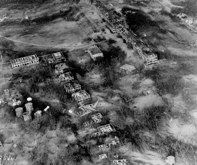 11th Airborne Div 503rd PIR Landing on Corregidor Aerial View Philippines 021645 ix (1 of 1)