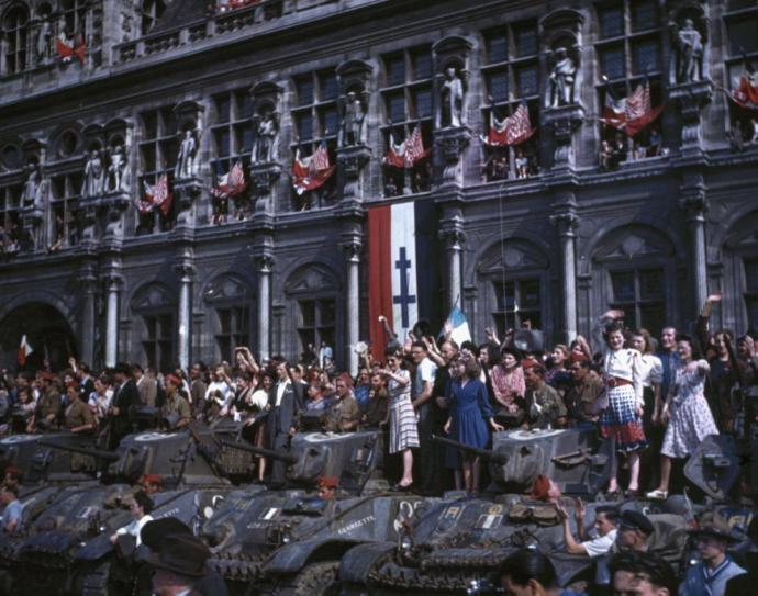 Paris, August 26, 1944. The 2nd Free French Armored DIvision's most famous hour.