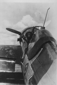 A Romanian fighter pilot about to sortie in an I.A.R. 81 on May 16, 1944.