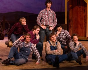 Oklahoma dress run through. Ed's at far left in the back row.