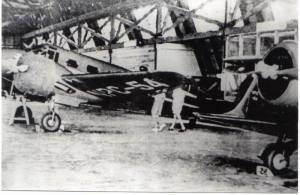 The Philippine Air Lines hangar at Nielson Field in 1941. PAL flew Beech 18's and a Staggerwing (at right).