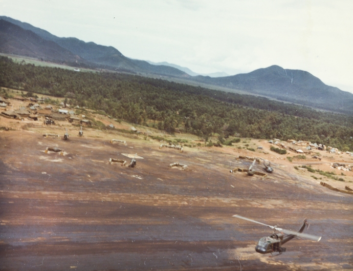 1st Cav Div 1st Bn 7th Cav UH-1 Hueys Taking Off Operation Pershing 50km NE Ankhe in Binh Dinh Province vietnam 052867 (1 of 1)