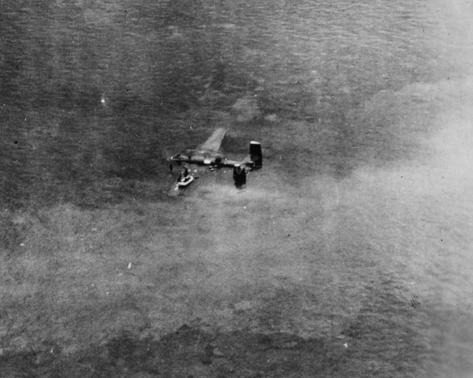 42nd bg 13th af b25 crew in water zamboanga619 8x10