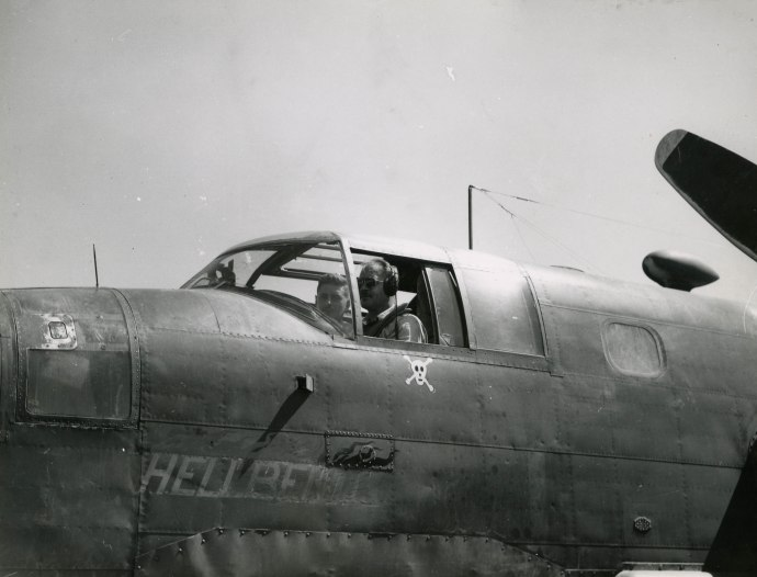 42nd bg sqn co col harry wilson b25 nose art guadalcanal371
