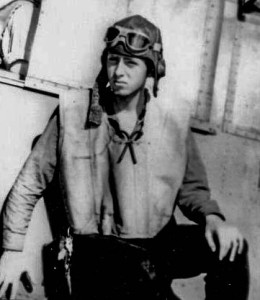 Harry Ferrier at Midway, all of 17 years old in June 1942.