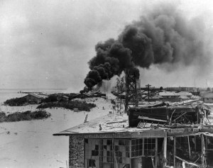 Midway after the Japanese air attack on the morning of June 4, 1942.