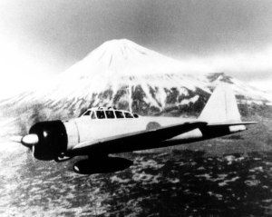 Another shot of a Mitsubishi A6M2 Zero, taken with Mt. Fuji in the background.