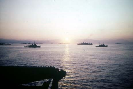 guadalcanal invasion fleet in color 4x6