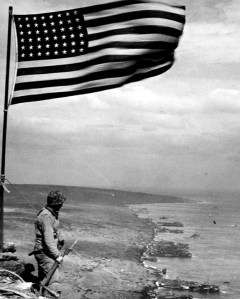 marine guarding the flag at surabachi773