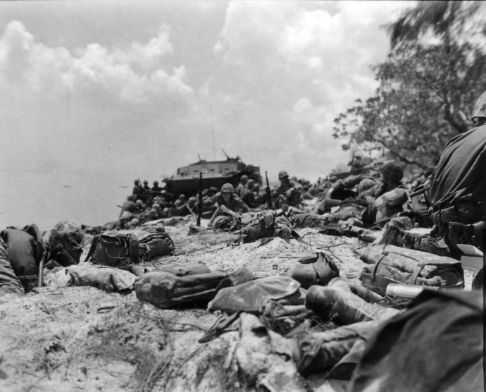 USMC Series WWII Saipan Red Beach #2 at 1300 on 1st Day 061544 (1 of 1)