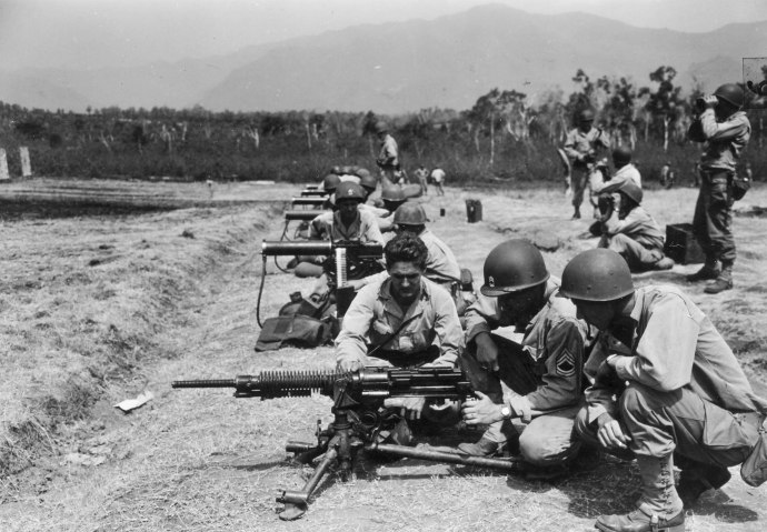 147th inf Regt Japanese MMG with M1917 30 cal MMG on range at New Caledonia 112444 (1 of 1)