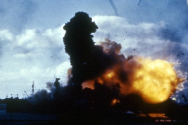 arizona-explodes-at-pearl-harbor-color-4x6
