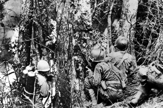 25th inf division baguio luzon april 45 balete pass 4x6