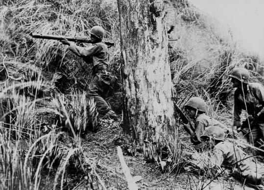 25th inf division baguio luzon april 45 combat scne903 5x7