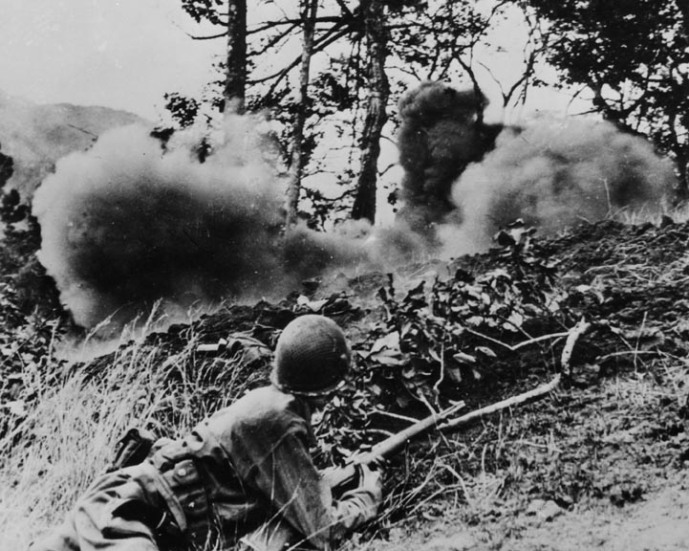 25th inf division baguio luzon april 45 combat scne904 8x10