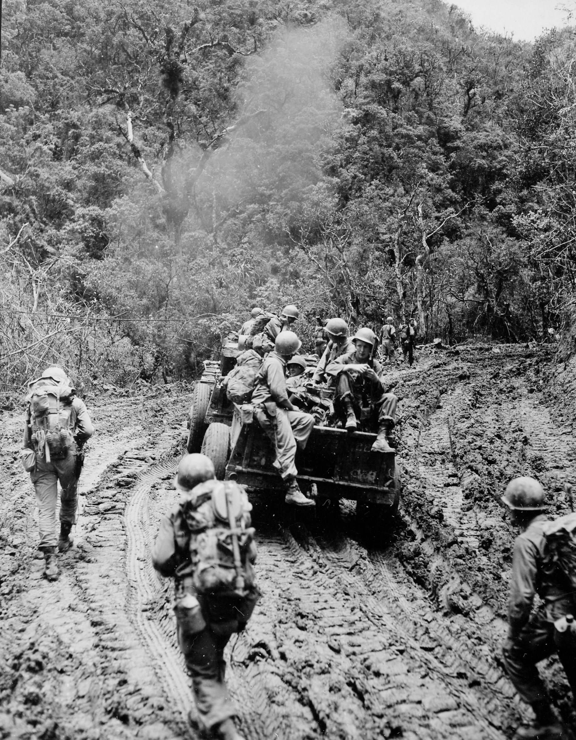 32nd inf div troops and vehicles vella verde trail luzon philippines 05--45 (1 of 1)