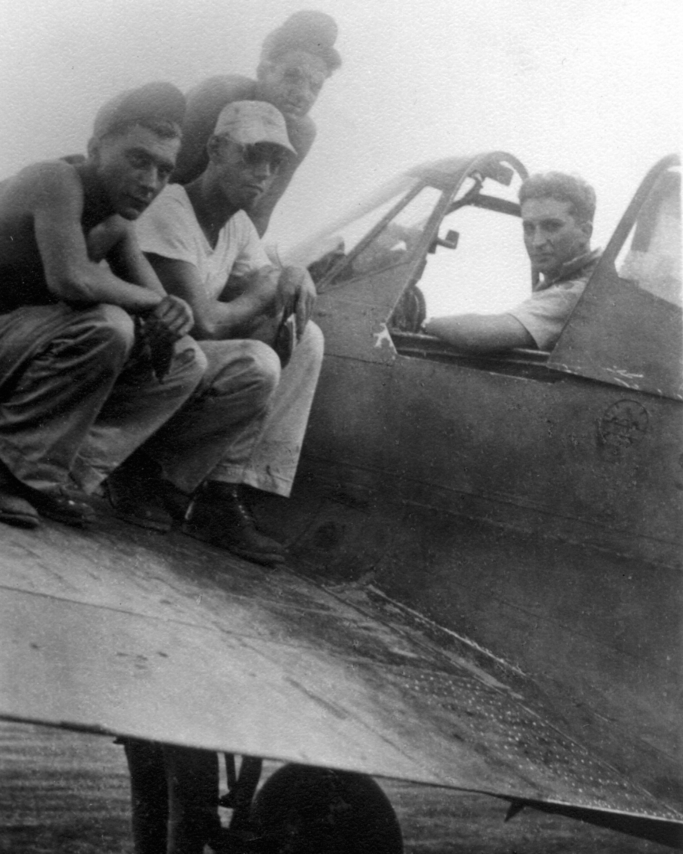 bill runey in p40 cockpit 8x10